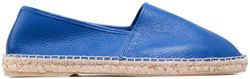 Espadrilles man's made of genuine leather Lapti ultra blue