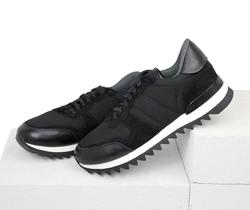 Men's sneakers combined Lapti black