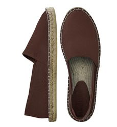 Brown leather espadrilles (M)