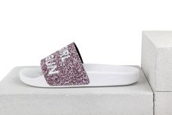 Шлепанцы розовое мерцание вышивка GIRL (W)