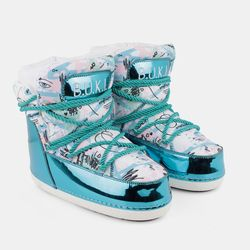 Women's moon rovers BUKI menthol print graffiti