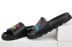 Leather black flip-flops LETO MOZGI LAPTI