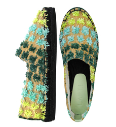 Light blue textile espadrilles (W)