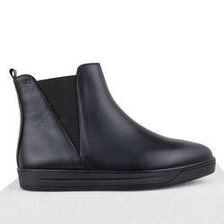 Кожаные черные ботинки ЧЕЛСИ острый нос (W)