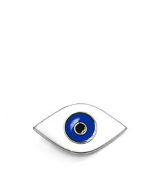 Blue Eyes badge on laces