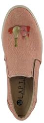 Слипоны из ткани розовые принт девочка Гапчинская