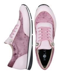 Кроссовки бархатные розовые (W)