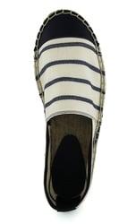 Men's espadrilles made of textile Lapti white striped