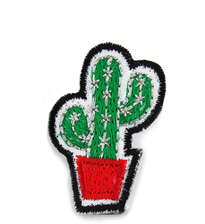 Cactus footwear embroidery