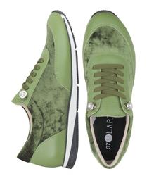 Кроссовки бархатные зеленые (W)