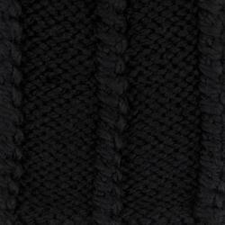 Шапка вязаная из шерсти альпаки Lapti черная