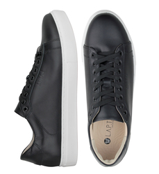 Man's sneakers made of genuine leather Lapti black