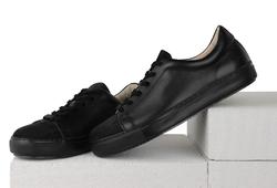 Комбинированные черные кеды(M)