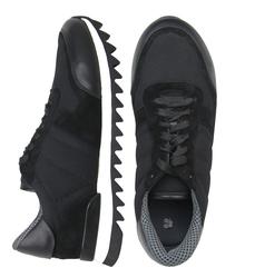 Комбинированные черные кросcовки (M)