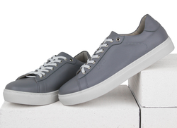 Men's sneakers made of genuine leather Lapti gray
