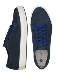 Темно-синие кеды из нубука на шнурках_6400(M)