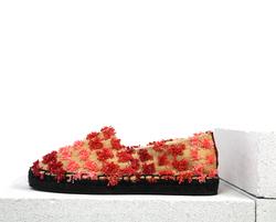 Red textile espadrilles(W)