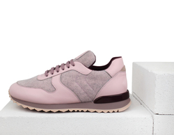 Кроссовки розовые из войлока (W)